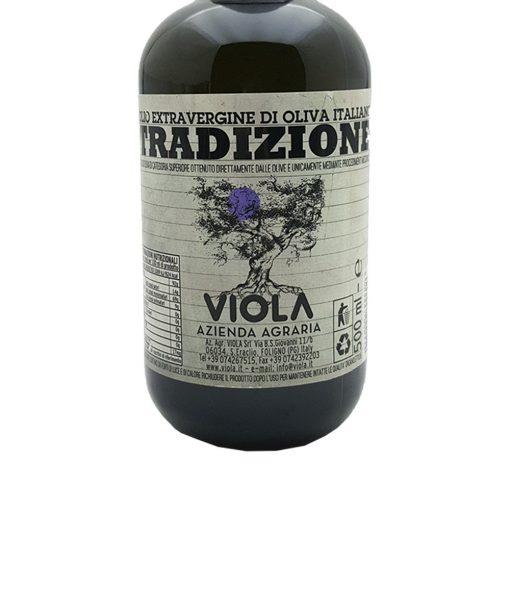 olio extra vergine di oliva tradizionale 50 cl viola