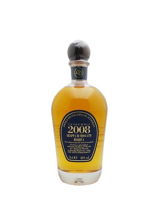 grappa riserva moscato distilleria di alta villa