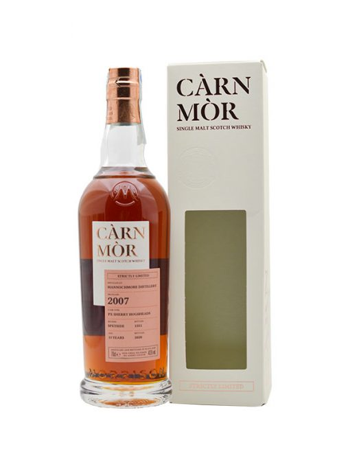 whisky mannonchmor 13yo càrn mòr